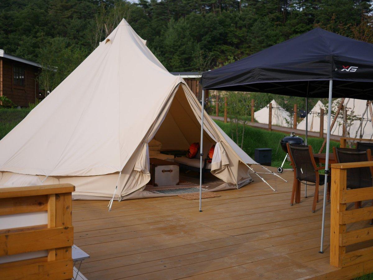 るり渓 GRAXのグランピングテント